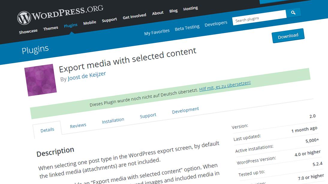 WordPress Beitragsbilder migrieren