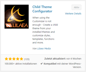 Plugin Child Theme Configurator