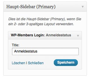 WP-Members Login Widget