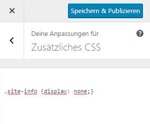 Zusätzliches CSS Feld für weitere Codes